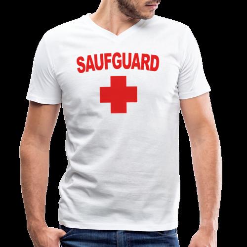 SaufGuard - Männer Bio-T-Shirt mit V-Ausschnitt von Stanley & Stella