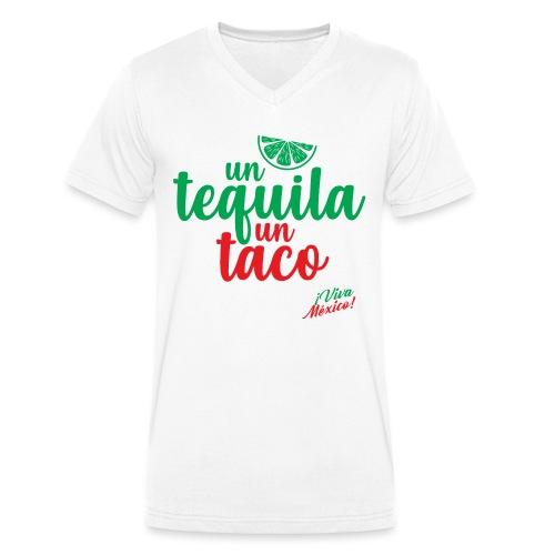 Un Tequila Un Taco - Camiseta ecológica hombre con cuello de pico de Stanley & Stella