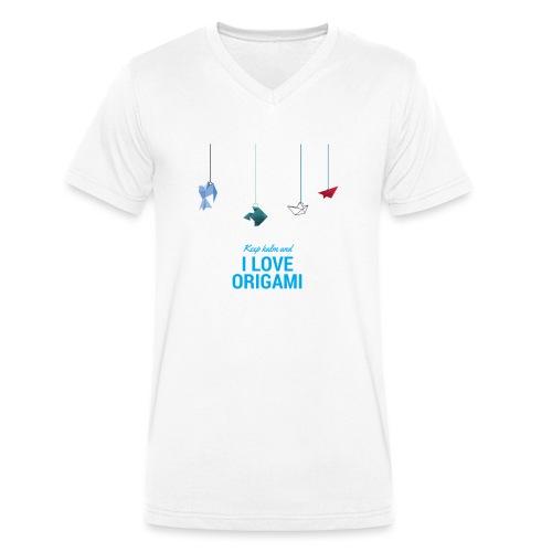 Origami - T-shirt ecologica da uomo con scollo a V di Stanley & Stella