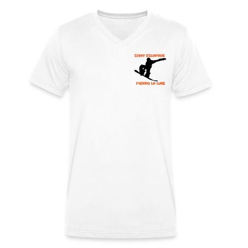 Staff Snow Pierro la lune - T-shirt bio col V Stanley & Stella Homme