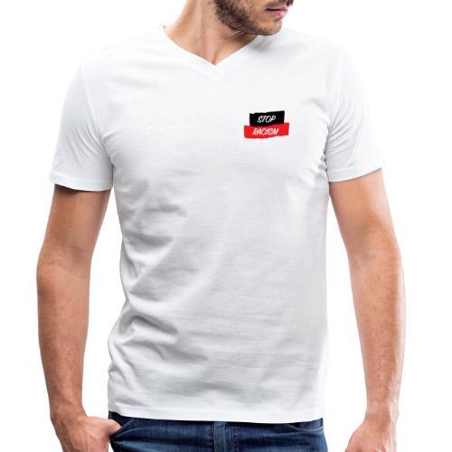 STOP RACISM - Camiseta ecológica hombre con cuello de pico de Stanley & Stella