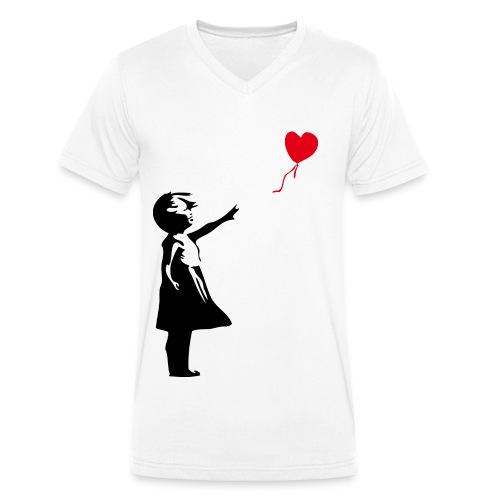 Mädchen png - Männer Bio-T-Shirt mit V-Ausschnitt von Stanley & Stella