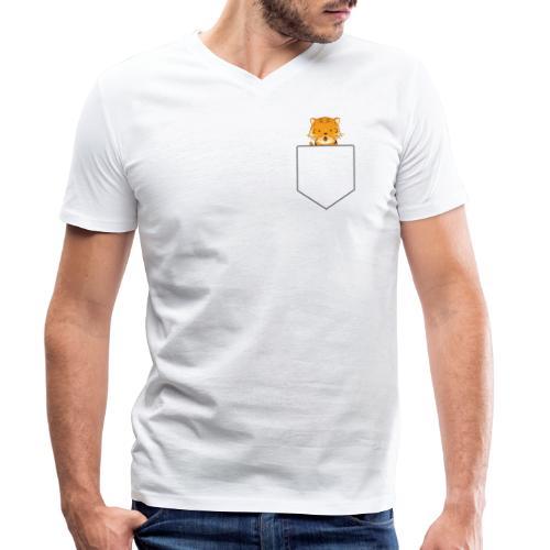 Lomme Tiger - Økologisk Stanley & Stella T-shirt med V-udskæring til herrer