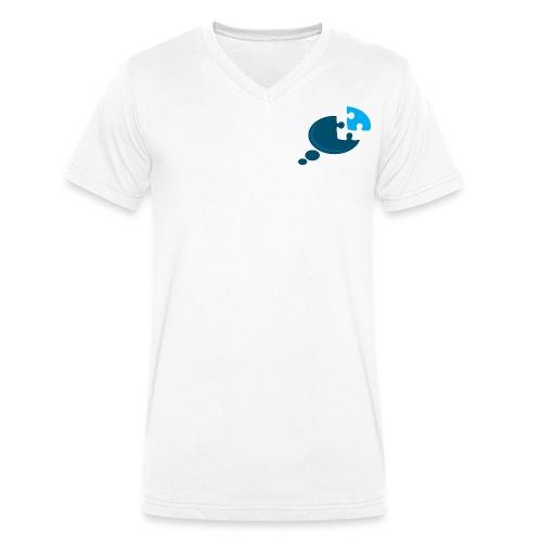 New Found Thinking - Men's Organic V-Neck T-Shirt by Stanley & Stella