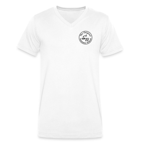 Spread Shirt Logo Badge - Men's Organic V-Neck T-Shirt by Stanley & Stella