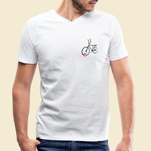 Radball | Cycle Ball Polo black - Männer Bio-T-Shirt mit V-Ausschnitt von Stanley & Stella