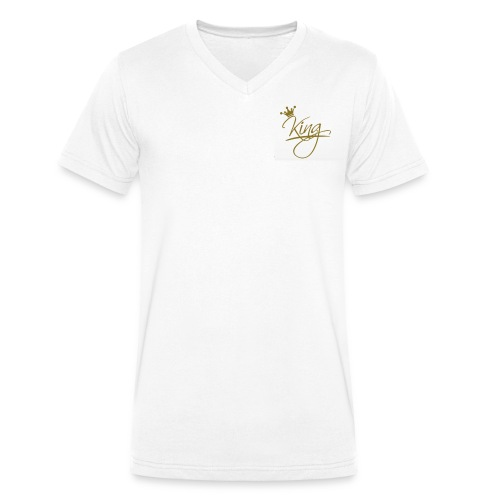 King wears - Men's Organic V-Neck T-Shirt by Stanley & Stella
