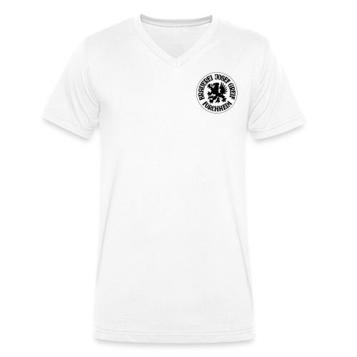 Logo Greif - Männer Bio-T-Shirt mit V-Ausschnitt von Stanley & Stella