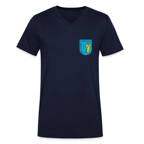 RKG Wappen Vorderseite Shirt - Männer Bio-T-Shirt mit V-Ausschnitt von Stanley & Stella