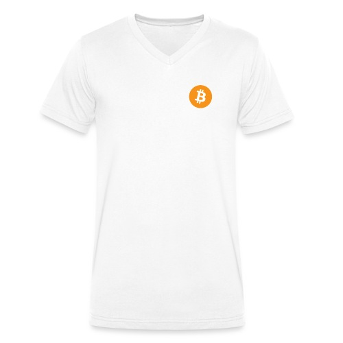 Bitcoin Logo - Men's Organic V-Neck T-Shirt by Stanley & Stella