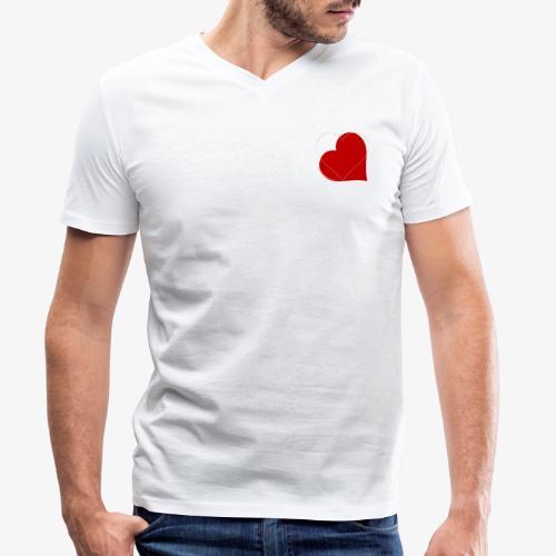 Love - T-shirt ecologica da uomo con scollo a V di Stanley & Stella