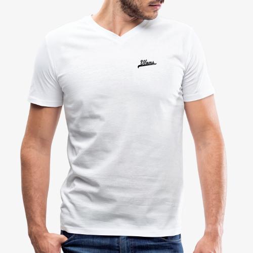 Zwart logo Vloms - Mannen bio T-shirt met V-hals van Stanley & Stella