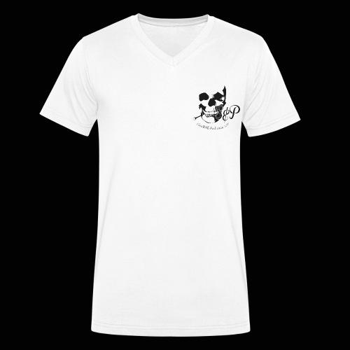 SP Totenkopf 1c Schwarz UNESTABLISHED - Männer Bio-T-Shirt mit V-Ausschnitt von Stanley & Stella