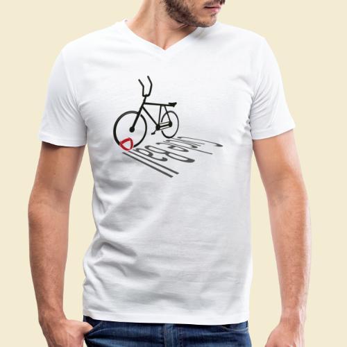 Radball | Cycleball Shadow - Männer Bio-T-Shirt mit V-Ausschnitt von Stanley & Stella