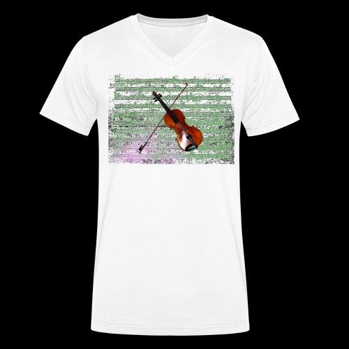 Violin - Men's Organic V-Neck T-Shirt by Stanley & Stella
