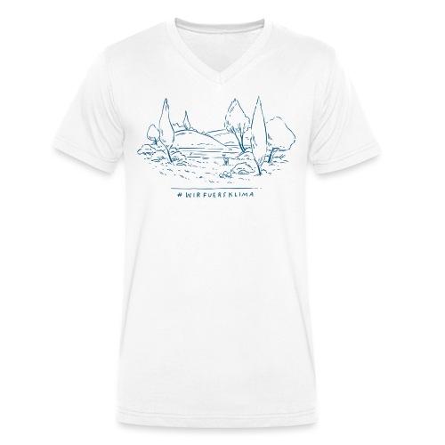 #wirfuersklima Landschaft - Männer Bio-T-Shirt mit V-Ausschnitt von Stanley & Stella