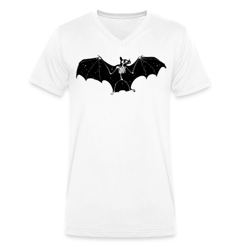 Bat skeleton #1 - Men's Organic V-Neck T-Shirt by Stanley & Stella