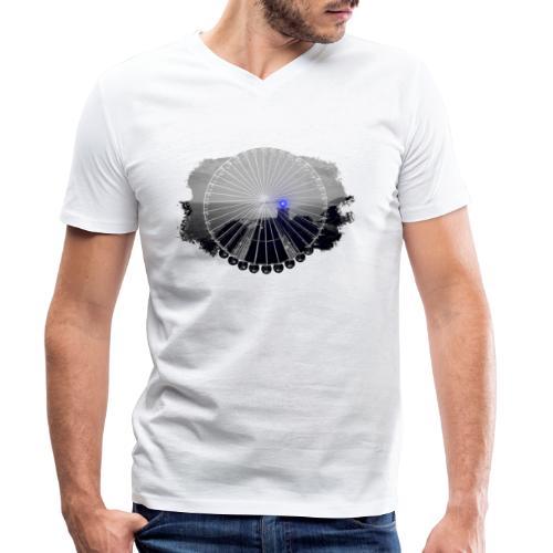 Ferris Wheel (grey/blue) - Økologisk Stanley & Stella T-shirt med V-udskæring til herrer