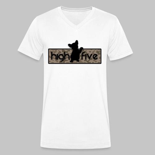French Bully Camouflage braun - Männer Bio-T-Shirt mit V-Ausschnitt von Stanley & Stella