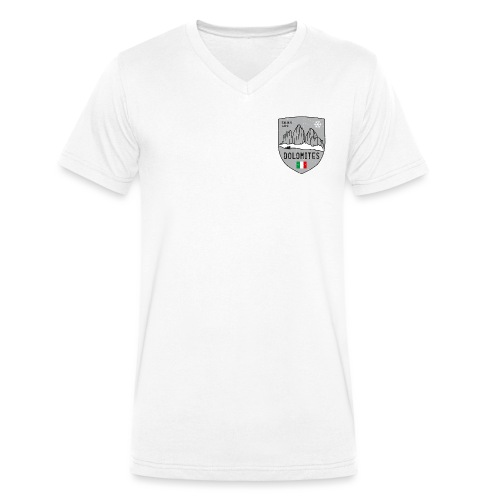 Tre Cime Italy coat of arms - Men's Organic V-Neck T-Shirt by Stanley & Stella