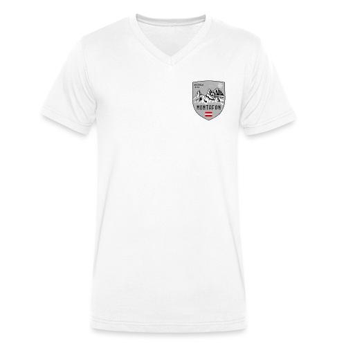Montafon Austria coat of arms - Men's Organic V-Neck T-Shirt by Stanley & Stella