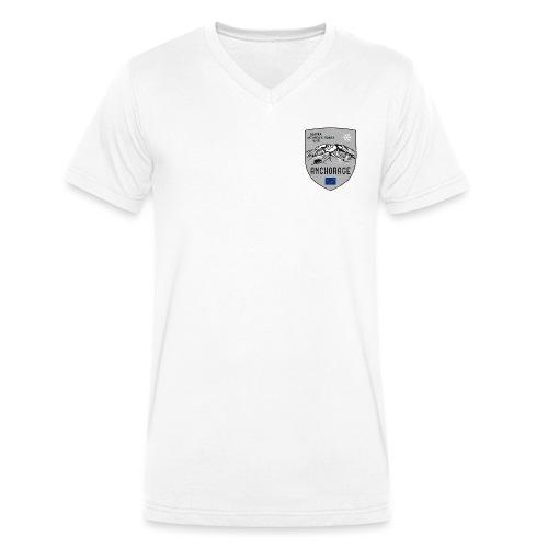 Alaska USA coat of arms - Men's Organic V-Neck T-Shirt by Stanley & Stella