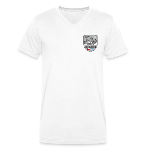 Fitzroy Patagonia coat of arms - Men's Organic V-Neck T-Shirt by Stanley & Stella