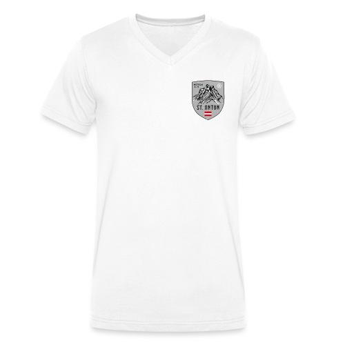 St. Anton Austria coat of arms - Men's Organic V-Neck T-Shirt by Stanley & Stella