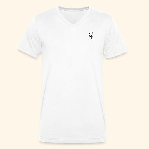 CrownLion Iniciales - Camiseta ecológica hombre con cuello de pico de Stanley & Stella