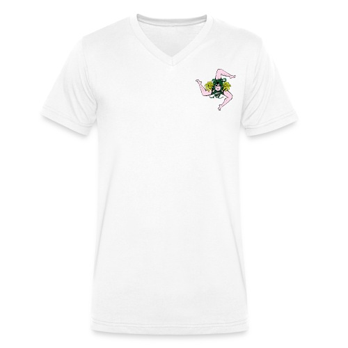 Trinacria Color - Men's Organic V-Neck T-Shirt by Stanley & Stella