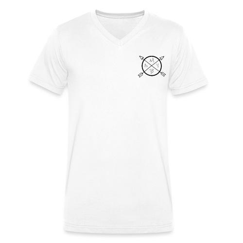 May-B arrow logo - Men's Organic V-Neck T-Shirt by Stanley & Stella