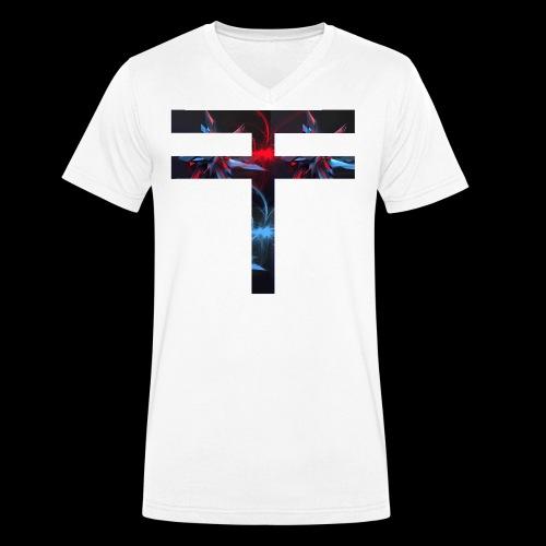 Obsolete Fire - T-shirt ecologica da uomo con scollo a V di Stanley & Stella