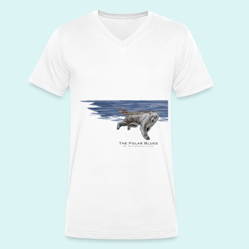 Polar-Blues-SpSh - Men's Organic V-Neck T-Shirt by Stanley & Stella