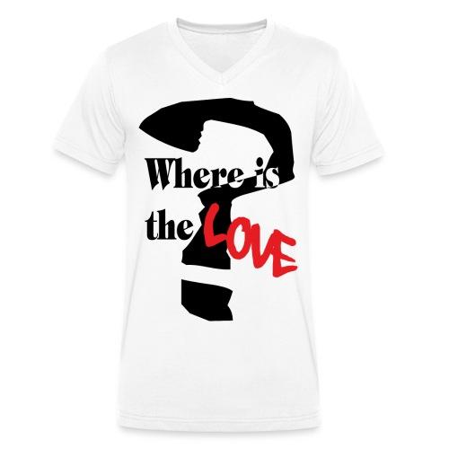 love kurven schwarz png - Männer Bio-T-Shirt mit V-Ausschnitt von Stanley & Stella