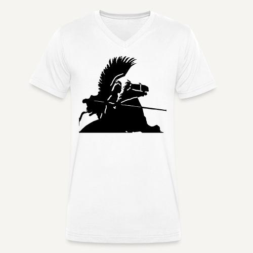 Husaria (wg. Benda) - Ekologiczna koszulka męska z dekoltem w serek Stanley & Stella