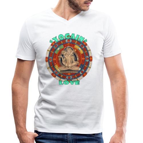 YogaIn Love - T-shirt ecologica da uomo con scollo a V di Stanley & Stella