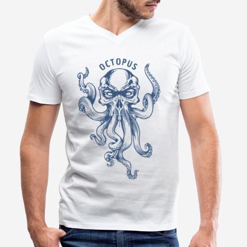 octopus navy sea - Männer Bio-T-Shirt mit V-Ausschnitt von Stanley & Stella