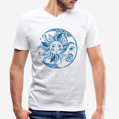 Sonnenmond Astrologie - Männer Bio-T-Shirt mit V-Ausschnitt von Stanley & Stella