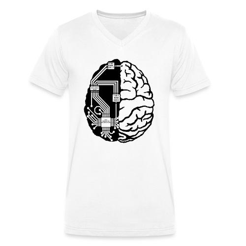 ElectroBrain NoBG png - Men's Organic V-Neck T-Shirt by Stanley & Stella