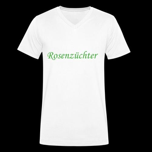 Rosenzuechter gruen - Männer Bio-T-Shirt mit V-Ausschnitt von Stanley & Stella
