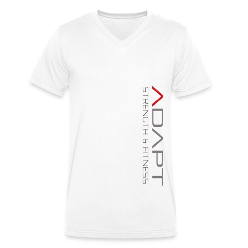 whitetee - Men's Organic V-Neck T-Shirt by Stanley & Stella