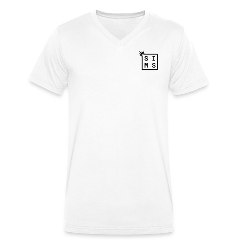 Sims logo black - Men's Organic V-Neck T-Shirt by Stanley & Stella