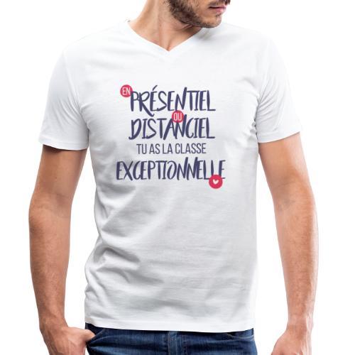 Présentiel, distanciel, exceptionnel(-le) - T-shirt bio col V Stanley & Stella Homme