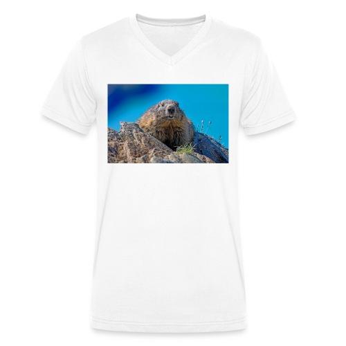 Murmeltier - Männer Bio-T-Shirt mit V-Ausschnitt von Stanley & Stella