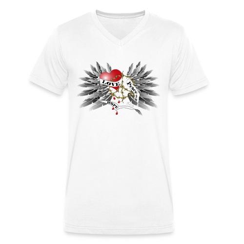 Love, Peace and Hope - Liebe, Frieden, Hoffnung - Männer Bio-T-Shirt mit V-Ausschnitt von Stanley & Stella
