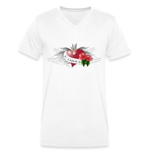 L' Amour - Die Liebe - Männer Bio-T-Shirt mit V-Ausschnitt von Stanley & Stella