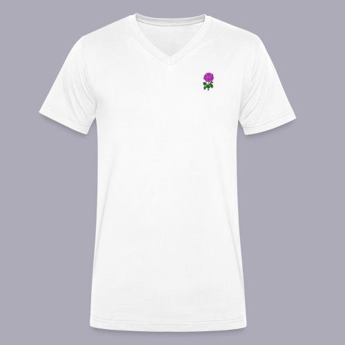 Landryn Design - Pink rose - Men's Organic V-Neck T-Shirt by Stanley & Stella