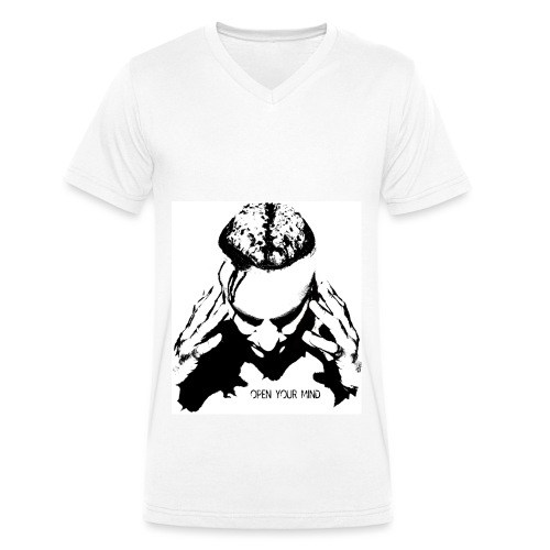 Open your mind - Men's Organic V-Neck T-Shirt by Stanley & Stella