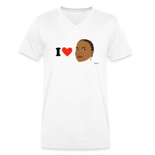 i love taubira spread - T-shirt bio col V Stanley & Stella Homme