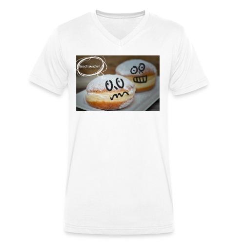Gesichtskrapfen - Männer Bio-T-Shirt mit V-Ausschnitt von Stanley & Stella